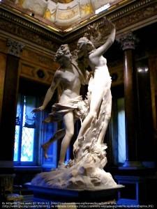 アポロンとダフネ(by Bernini in the Galleria Borghese)