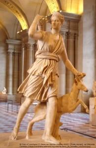 狩猟の女神・アルテミス像(ヴェルサイユ宮殿)