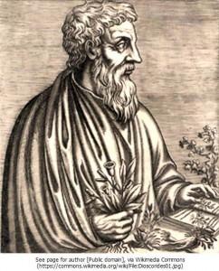 ギリシャの医師・植物学者ディオスコリデス(1世紀)