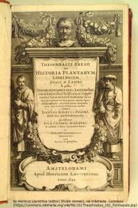 テオプラストス『植物誌』(紀元前2世紀)