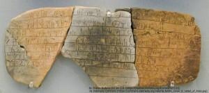 ミケーネ文明の粘土板(線文字B)