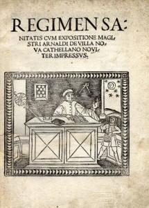 「サレルノ養生訓」(1480年)の扉絵