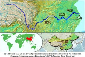 中国を横断する長江