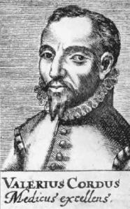 ヴァレリウス・コルドゥス(Valerius Cordus, 1515-1544年) ポートレイト