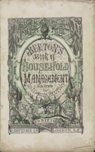 ビートン夫人『家政読本(The Book of Household Management)』 表紙
