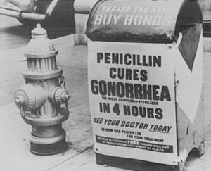 第二次世界大戦中のペニシリンの広告