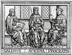 ガレノス、アヴィケンナ、ヒポクラテス