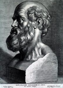 """ピーテル・パウル・ルーベンス作の版画 """"コス島のヒポクラテス"""" (1638年)"""