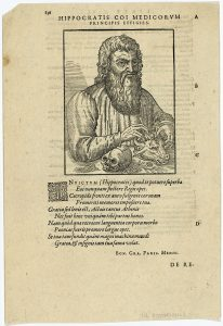 書籍の中のヒポクラテス像