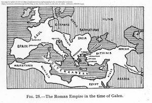 ガレノスの時代のローマ帝国の地図