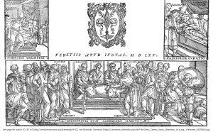 ブタの解剖を行うガレノス