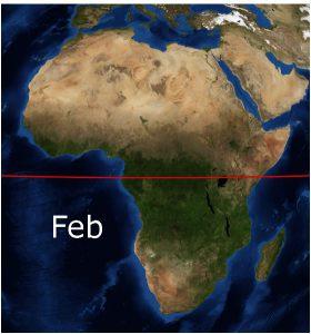 アフリカの植生(2月)