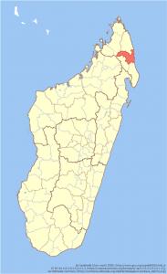 サンバヴァ(Sambava)地域の場所(マダガスカル島)