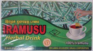 イラムスのハーブティー(パッケージ) / 国立アーユルヴェーダ製薬会社 (Sri Lanka Ayurvedic Drugs Corporation)製造