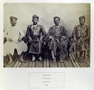 ロダ(Lodhas)の人々(インド北部サーガル(Saugor)にて・1868年)