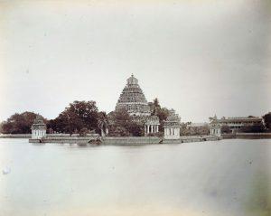 1870年頃のマリアマン寺院(インド・マドゥライ)