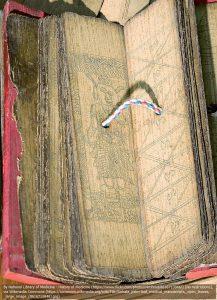 スリランカの伝統的な、薬学、解剖学、医学についての手書き本(写本)(1700年頃)。
