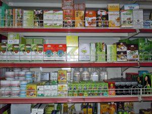 スリランカのスーパーマーケット内の一角