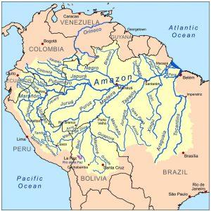 世界最大流域を持つアマゾン川