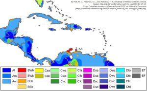 中央アメリカ(ケッペンの気候区分)