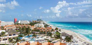 カリブ海に面した都市カンクン(cancun)(メキシコ)