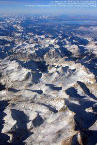 シェラ国立森林公園(シエラネヴァダ山脈)の上空から