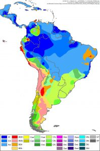 南アメリカ(ケッペンの気候区分)