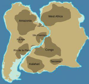 ローラシア大陸とゴンドワナ大陸