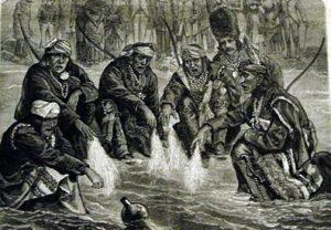 ズーニー族の人々(新聞に描かれた挿絵より)/ 1882年、フランク・レスリーによるイラスト