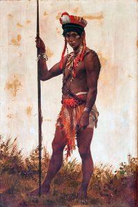 ヴァウペス川のインディオ。ブラジルの画家デシオ・ヴィァレス(Decio Villares)の作品(1882年)