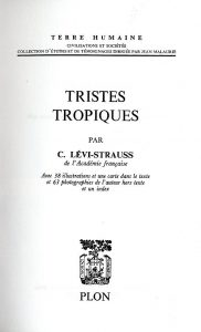 クロード・レヴィ=ストロースの著書『悲しき熱帯』の表紙