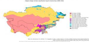中央アジア(ケッペンの気候区分)