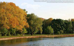 テクスチルシキ(Tekstilshchiki)地区の池(モスクワ・ロシア)