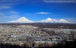 ペトロパブロフスク・カムチャツキー(Petropavlovsk Kamchatsky)の町(カムチャツカ地方・ロシア)