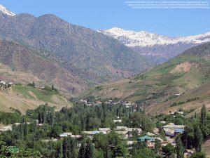 夏の村の風景(タジキスタン)