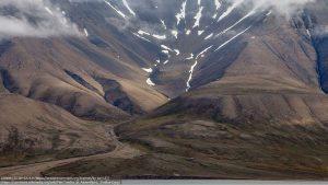 夏の永久凍土(ロシアより北方の、ノルウェー領ヤンマイエン島)